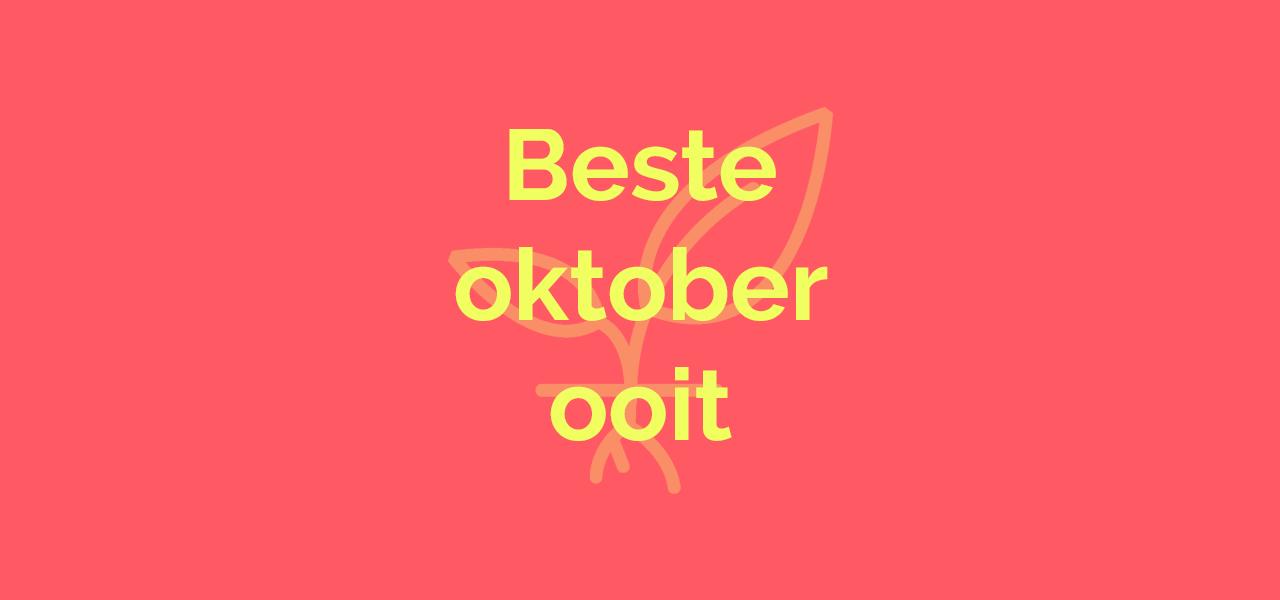 Beste oktober ooit bij voordekunst 🎃