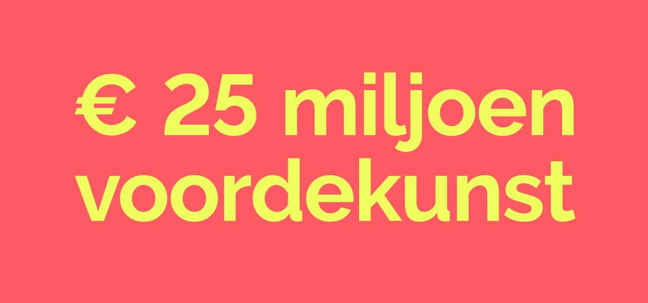 Voordekunst haalt 25 miljoen euro aan donaties binnen