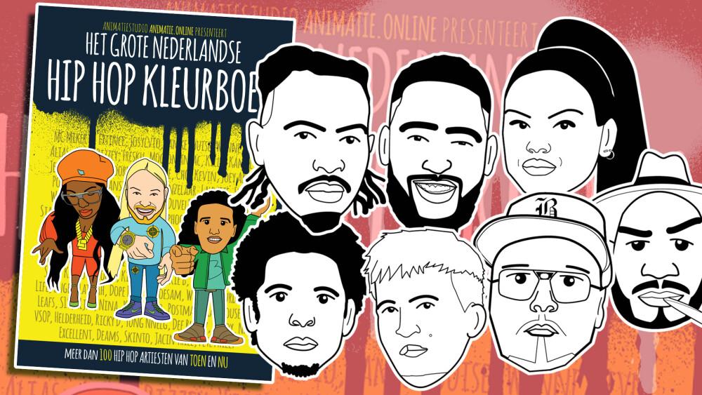 Afbeeldingsresultaat voor het grote nederlandse hiphop kleurboek